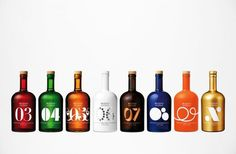 Blossa #bottle #bold #colours #drinks #blossa #numbers