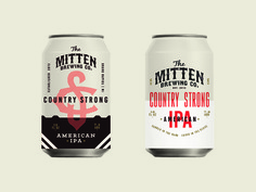 Early Beer Can Concepts for The Mitten typography monogram packaging design baseball brewery beer emblem can design cans mitten brewing co. art direction full circle ____ Josh Kulchar