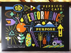 PepsiCo Café | Erik Marinovich #erik marinovich #type #hand drawn