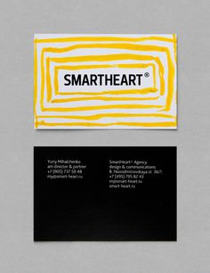 simple art for smartheart #business card #minimal #yellow #card #stripes #bcard