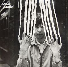 """Peter Gabriel - """"Peter Gabriel"""" #abstract #album #old #rip #gabriel #white #school #graphic #photograph #black #pater #cover #storm #and #bw #thorgerson"""