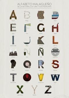 Alfabeto malagueño © on the Behance Network #typography