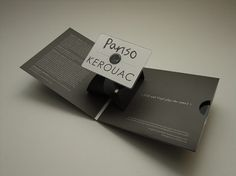 Pariso / Kerouac Split – 5inch vinyl / Pop up business card CD − ACDSleeve #cover #aaron #sleeve #dawkins