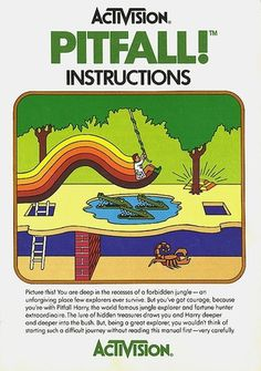 Atari - Pitfall! | Flickr - Photo Sharing! #video #booklet #games #manual
