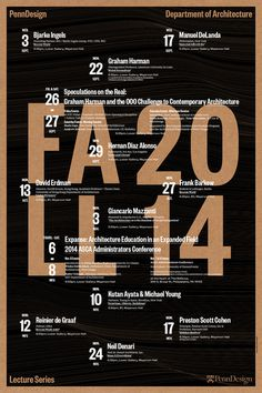 Lecture Poster, designed by WSDIA | WeShouldDoItAll. Image courtesy of WeShouldDoItAll.
