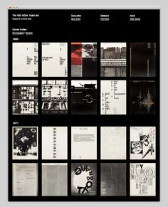 Typographische Monatsblätter Research Archive #website #grid #archive #posters #web