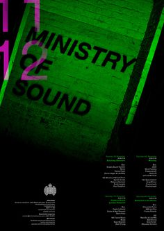 Ministry of Sound Poster #graphic design #design #typography #poster