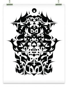 Rotterdam 2057 - k d v s #rorschach #illustration #pattern #poster