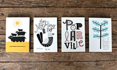Poplarville postcards | Kyle White #print #kyle #postcards #white
