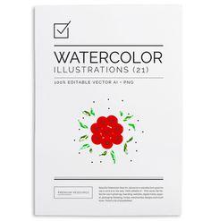 Watercolor Rose Art Set $5.00