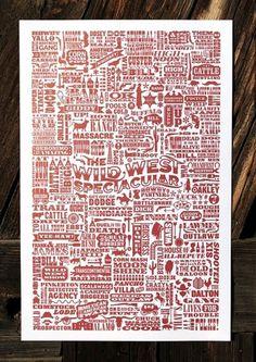 Daniel Führer Design #wild #fuhrer #red #west #poster #daniel #typography