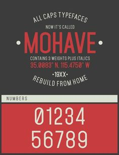 free fonts 2014 mohave #fonts