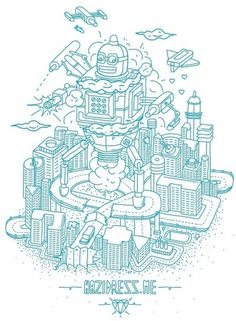 Inspiration Gallery - 28 February | Blog | Computer Arts magazine #cool #city #vector #robot