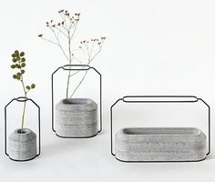 Wild Industrial Vases Add Some Modern Flair to Your Table | Designs & Ideas on Dornob #design