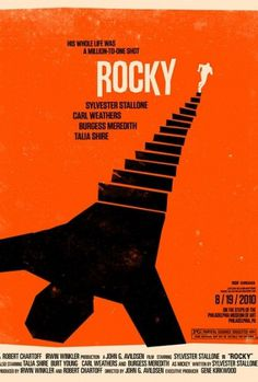 Olly Moss's posters list #rocky #illustration #poster #film #olly #moss