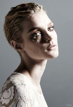 "BLCKout - vogueweekend: ""Stam"", Jessica Stam photographed... #fashion #photography"