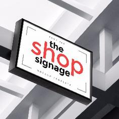 Signage | Sign Design | Wayfinding | Wayfinding signage | Signage design | 商店店招样机