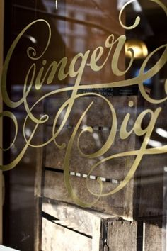 Script Lettering Signage (via www.mowielicious.com) | Typeverything.com #lettering #script #typeverything #gold #signage #foil #typography