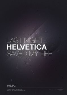 kentson:Poster (Helvetica): Via smooth #design #graphic #poster #typography