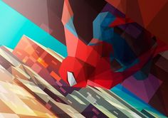 Liam Brazier illustration and animation #colourful #spiderman #illustration #liam #brazier