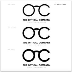 Branding & logotype for The Optical Company. Optical brand. Logotype. #branding #logotype #optical #design guidelines #logo #design