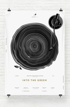 Into The Green by Anton Burmistrov #design #graphic #poster #typography