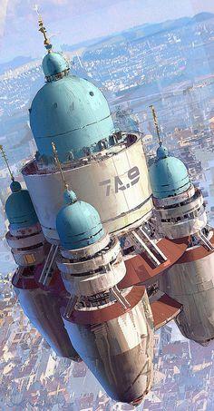 ArtStation - Floating Palace, by Joseph Feinsilver