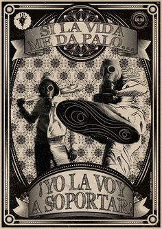 La Vida / Homenaje a Mano Negra on the Behance Network #garavato #illustration #negra #mano
