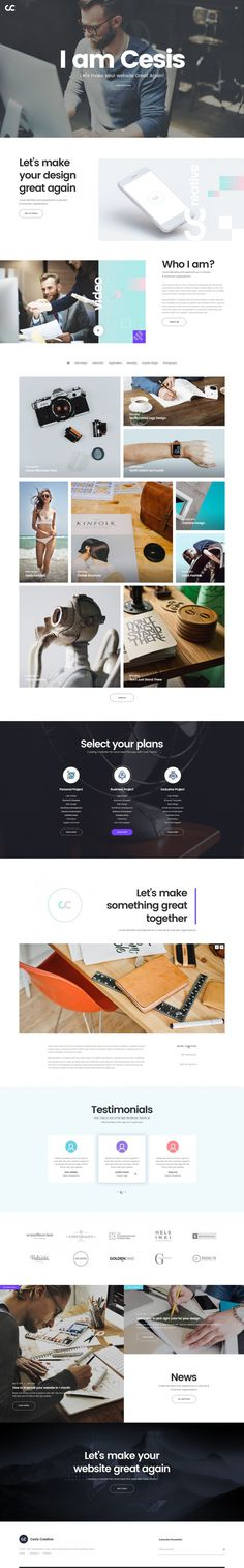 Cesis Creative: Homepage by tranmautritam