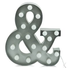 Marquee Light '&' Silver 60cm