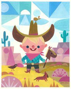 joey cho illustration #kids #illustration #cowboy