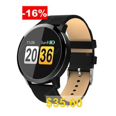 Q8 #Smart #Watch #OLED #Color #Screen #Smartwatch #women #Fashion #Fitness #Tracker #Heart #- #BLACK