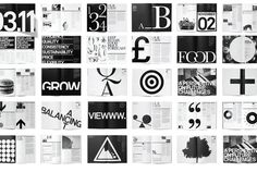 Paul Felton #type #design #graphic #black&white