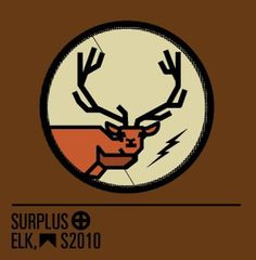 Surplus, Elk #mark #deer #elk #surplus #lightning #bolt #logo
