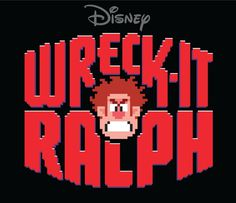 "Title Treatment for Disney's ""Wreck It Ralph"" on Behance #wreck #design #graphic #retro #pixel #video #disney #ralph #pixellate #logo #game #typography"