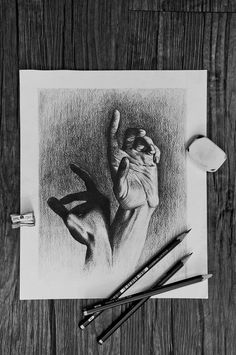Hands and Light on Behance #white #hands #drawing #anatomy #black #fingers #human #illustration #light #and #study #life #pencil #sketch #shadow