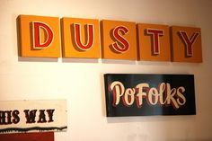 All sizes | Dan Madsen | Flickr - Photo Sharing! #sign #type #painting #typography