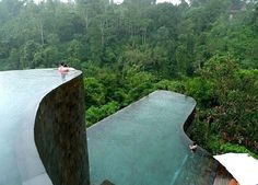 Hanging Infinity Pools in Bali at Ubud Hotel & Resort | Freshome #infinity #travel #indonesia #pool #holiday #hotel