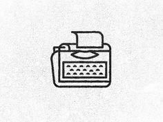 Dribbble - Typewriter GIF by David Sizemore #icon #symbol #gif