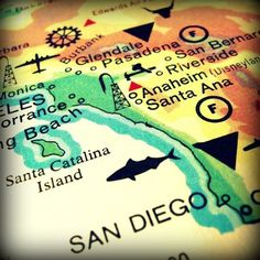 bogo sale SAN DIEGO vintage map print 8x8 by VintageBeach on Etsy #map