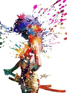 FFFFOUND! | 49f5e9cdn7c045fc4fcb1&690 (JPEG Image, 490×676 pixels) #illustration #colorful #colors #rainbow #splatter