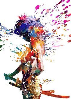 FFFFOUND! | 49f5e9cdn7c045fc4fcb1&690 (JPEG Image, 490×676 pixels) #illustration #colorful #colors #rainbow #splatter