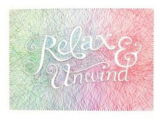 Relax & Unwind on the Behance Network #thread #typo #pins