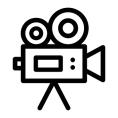 See more icon inspiration related to cinema, film, movie, video camera, entertainment, technology and video cameras on Flaticon.