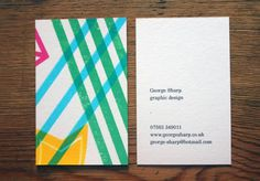 Creative Review - Degree shows 2011: Brighton Graphic Design #ident #card #identity #business