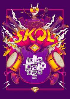 SKOL – Lollapaloza / Bigodon key visual