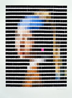 PANTONE ART BY NICK SMITH - follow dailyinspiration #girl #parel #vermeer #pantone #art #pearl