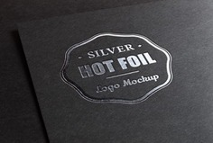 Logo mockup with metallic foil printing Free Psd. See more inspiration related to Logo, Mockup, Silver, Print, Psd, Printing, Metallic, Horizontal, Foil and Stamping on Freepik.