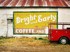 FFFFOUND! | design work life - Part 5 #advertisement #yellow #paint #coffee #antique #typography
