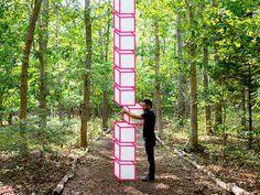 A Kinetic Sculpture Creates the Illusion of a Rotating HeadJanuary 29 #geometric #sculpture #illusion